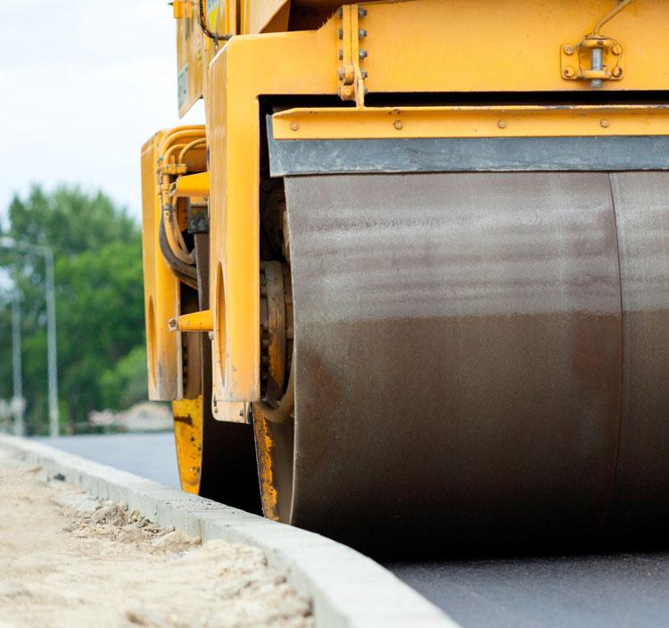 paving equipment roller